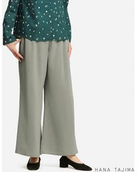 Uniqlo - Women Satin Wide Ankle-length Pants (hana Tajima) - Lyst