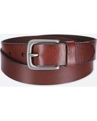 Uniqlo - Men Italian Leather Vintage Belt - Lyst