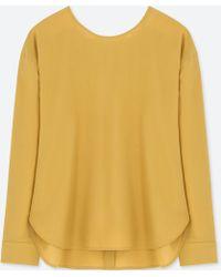 Uniqlo | Women Rayon Long-sleeve T-shirt Blouse | Lyst