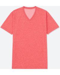Uniqlo - Men Packaged Dry V-neck Short-sleeve T-shirt - Lyst