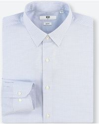 Uniqlo - Men Easy Care Checked Stretch Slim-fit Long-sleeve Shirt - Lyst
