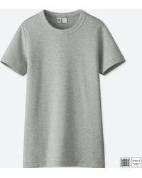 ec09b9e07 Lyst - Uniqlo Women U Striped Crewneck Short-sleeve T-shirt in Orange