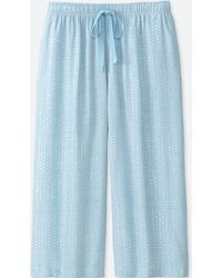Uniqlo - Women Mickey Blue Relaco 3/4 Shorts - Lyst