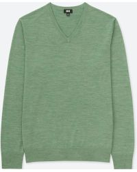 Uniqlo - Men Extra Fine Merino V-neck Long-sleeve Sweater - Lyst