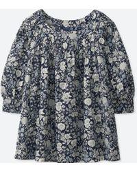 Uniqlo - Women Studio Sanderson For Soft Cotton Blouse - Lyst