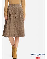 Uniqlo - Women Corduroy Printed Skirt (ines De La Fressange) - Lyst