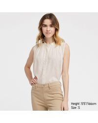 777dc37cb2c6e Uniqlo Packaged Dry Rib Tank Top in White - Lyst