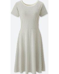 Uniqlo - Women Geometric-print Short-sleeve Bra Dress - Lyst