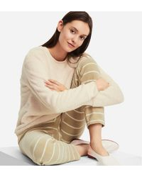 Uniqlo - Women Long-sleeve Striped Fleece Set - Lyst