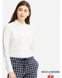 Uniqlo | Women Idlf Cotton Twill Tack Long-sleeve Shirt | Lyst
