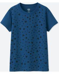 Uniqlo - Women Mickey Blue Short-sleeve Graphic T-shirt - Lyst