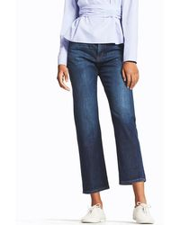 Uniqlo - Women High-rise Boyfriend-fit Jeans - Lyst