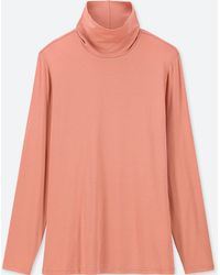 Uniqlo - Women Heattech Turtleneck Long-sleeve T-shirt - Lyst