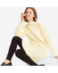Uniqlo - Women Cable Knit Long-sleeve Dress - Lyst