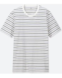 Uniqlo - Men Supima® Cotton Striped Short-sleeve T-shirt - Lyst