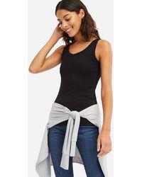 3eafffa25ec9f9 Uniqlo - Women Cotton Blended Ribbed V-neck Sleeveless Top - Lyst