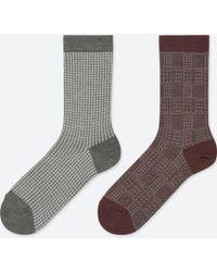Uniqlo - Women Heattech Houndstooth Socks (2 Pairs) - Lyst