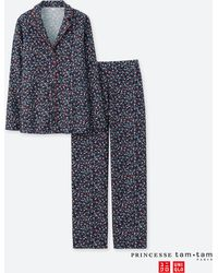 Uniqlo - Women Princesse Tam.tam Flannel Long-sleeve Pajamas - Lyst