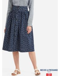 cfedd8c430 Uniqlo - Women Cotton Gathered Skirt (ines De La Fressange) - Lyst