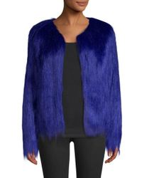 Unreal Fur - Unreal Dream Jacket In Electric Blue - Lyst