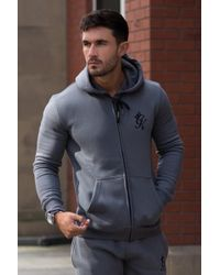 Gym King Tracksuit Zipped Hoodie in Blue for Men - Lyst a2d012e338b1