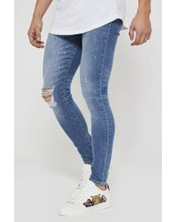 Good For Nothing - Ripped Multicolour Paint Splatter Jeans - Lyst