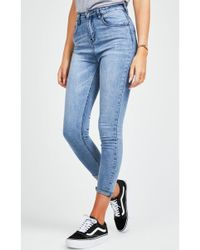 SIKSILK - Women's High Waisted Skinny Jeans - Lyst
