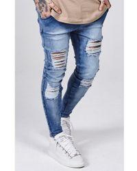 SIKSILK - Distressed Skinny Jeans - Lyst