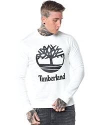 Timberland - Logo Crew Sweatshirt - Lyst