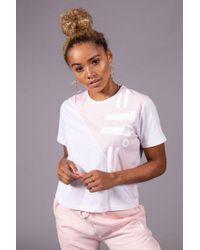 11 Degrees - Women's Graphic Cropped T-shirt - Lyst