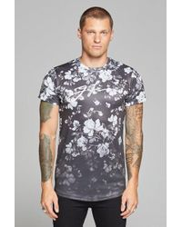 156df2f0 Lyst - Gucci Men's Floral Embroidered Botanic T-shirt In Black And ...