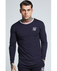 0f10258440649 Lyst - Siksilk L s Tournament Tee in Blue for Men