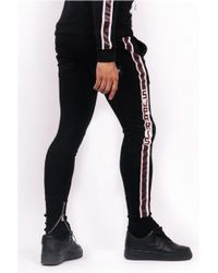 Sixth June - Suedette Branded Tape Joggers - Lyst