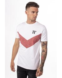 11 Degrees - Chevron T-shirt - Lyst