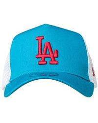 KTZ - Los Angeles Dodgers Essential A Frame Trucker Cap - Lyst