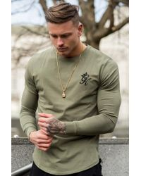 Gym King - Longsleeve Fitted T-shirt - Lyst