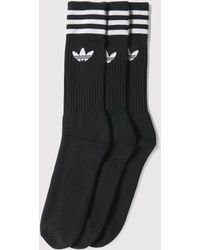 adidas Originals - Adidas Solid Crew Socks - Lyst