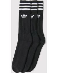 Adidas Originals | Adidas Solid Crew Socks | Lyst
