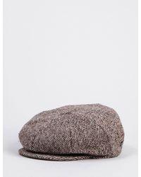 427c1567ac543 Christys  8 Piece Baker Boy Tweed Cap in Brown for Men - Lyst