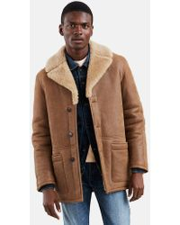 Levi's - Made & Crafted Shearling Ranch Coat - Lyst