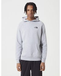 The North Face - Raglan Red Box Hooded Sweatshirt - Lyst