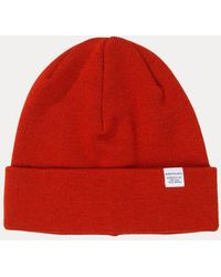 6ae1e2db4b5 Lyst - Norse Projects Top Beanie in Orange for Men