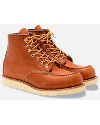 """Red Wing Heritage Work 6"""" Moc Toe Boots (875) - Brown"""