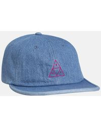 Huf Formless Denim Triple Triangle Cap - Blue