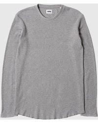 Edwin - Waffle Long Sleeve T-shirt (marl) - Lyst