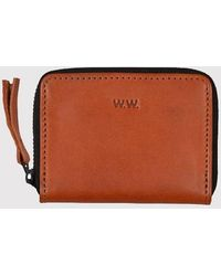 WOOD WOOD - Leather Card Wallet - Lyst