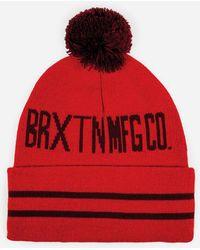 Brixton - Quin Bobble Beanie Hat - Lyst