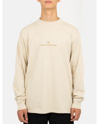 Stussy - Overdyed Mock Neck Long Sleeve T-shirt - Lyst