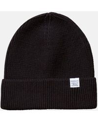91ccfa7a Norse Projects Cotton Watch Beanie Hat in Yellow for Men - Lyst