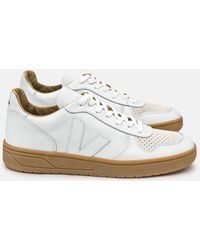 Veja - V-10 Leather Trainers - Lyst